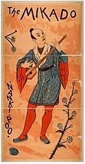 Nanki-Poo in poster for Mikado