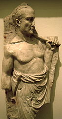 Roman priest with an axe