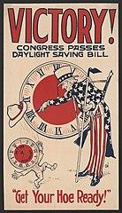 Congress passes Daylight Saving Bill 1918