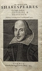 Title page, First Folio of Shakespeare's Plays. 1623
