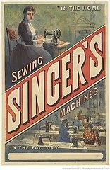 Advertisement Singer Sewing Machines