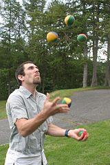 Man juggling.