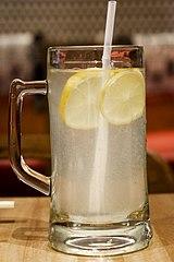 Mug of lemonade