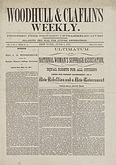 Front Page Woodhull & Claflin's Weekly