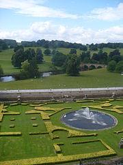 Garden and Bridge Chatsworth House
