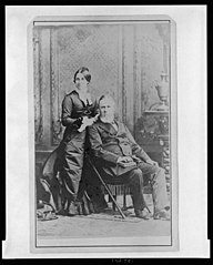 Rutherford and Lucy Hayes on his Inauguration Day