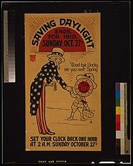 End Daylight Saving 1918