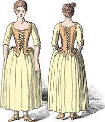 Front & back illustration of stays