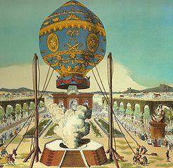 Hot Air Balloon in Paris, 1783