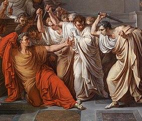 Murder of Caesar by Camuccini