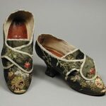 Brocade covered shoes