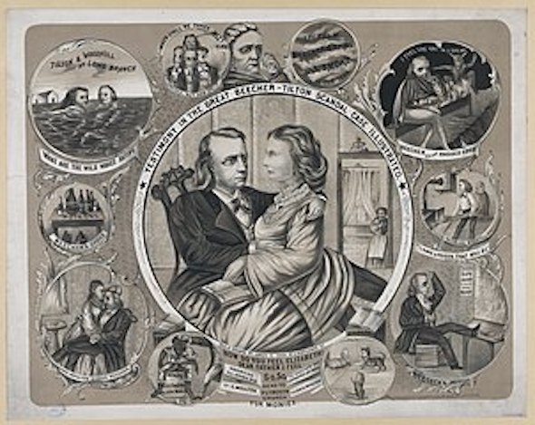 Illustration referencing Tilton-Beecher scandal