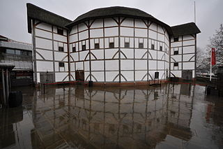 View of Shakespeare's Globe from The Thames River