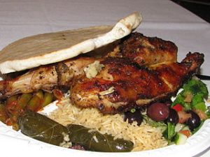 Plate of Greek Food