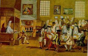 Interior of London Coffeehouse