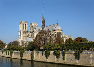 Southeast view Notre Dame before fire