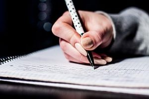Writing Notes with a pen