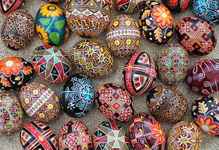 selection of pysanky