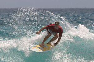 Man surfing.
