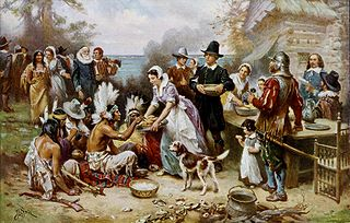 Painting of First Thanksgiving