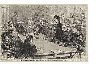 Victoria Woodhull before House Judiciary Committee