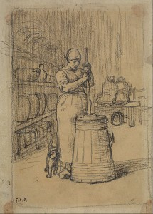 430px-Jean-François_Millet_-_Study_for_Woman_Churning_Butter_-_Google_Art_Project