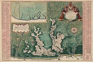 18th century map of Surinam plantations
