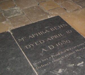 Aphra Behn's grave marker