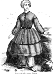1858 woman's bathing costume