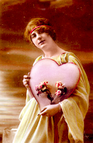 Early 20th Century Valentine, c.1910, Public Domain, Wikimedia Commons