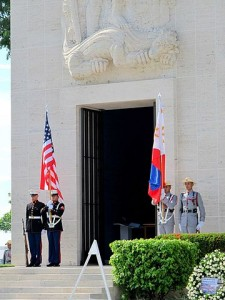 Colors_at_doorway_Manila_American_Cemetery