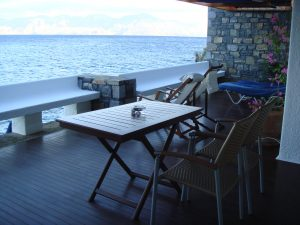 Hotel deck facing the sea