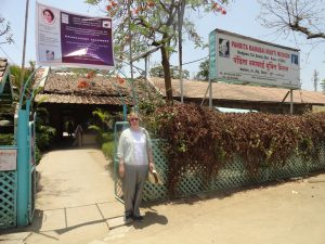 Standing in front of Mukti Mission