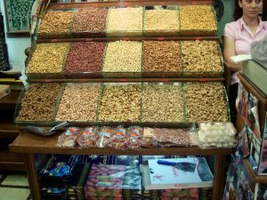 Display of nuts at the central market