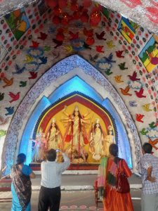 calcutta.inside durga puja temple