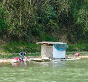 Washing on the Li River, Yangshuo