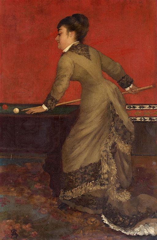 Elegant at Billiards, 1906 or earlier. Alfred Stevens. Wikipedia Commons. Public Domain.