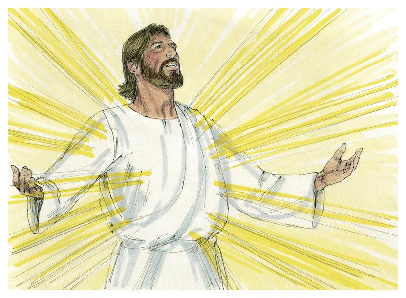 Drawing of Jesus' Resurrection by Jim Padgett. Wikimedia Commons