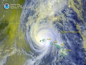 Hurricane `Iniki. Public Domain Wikimedia Commons