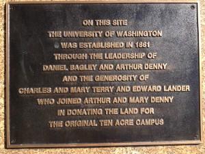 Plaque for Univ of Washington site.