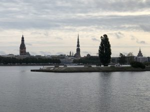 Arriving at Riga, Latvia