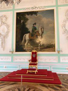 Peterhof, Portrait of Catherine II. Throne Room