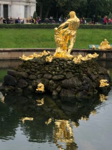 Peterhof Garden. Samson Fountain. Depicts Russia as Samson defeating Swedish lion