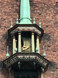 Viking Ship on City Hall Facade