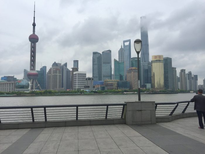 Viewing Shanghai from the Bund