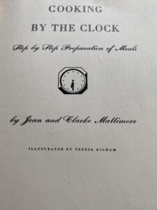 Title page. Cooking by the Clock