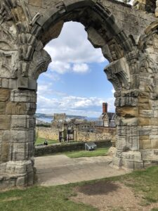 View of Whitby from West Door of Abbey