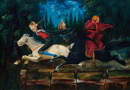 Ichabod Flees Headless Horseman