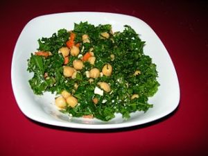 Kale & chick pea salad