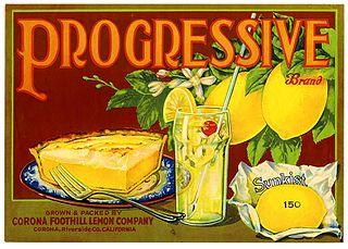 Progressive produces made with Sunkist lemons